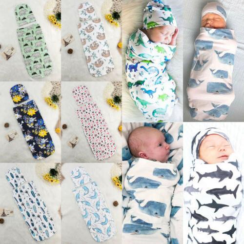 Baby Blanket Swaddle Wrap Toddler Bag + Hat