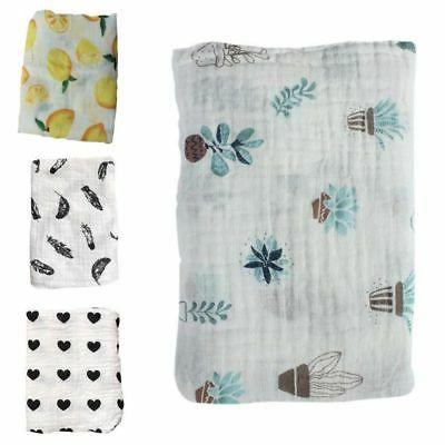 Baby Cotton Blanket Newborn Infant Swaddle Towel