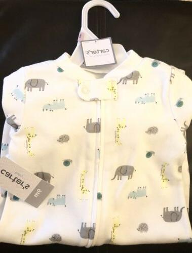 Baby Carter's Giraffe & Elephant Sleep