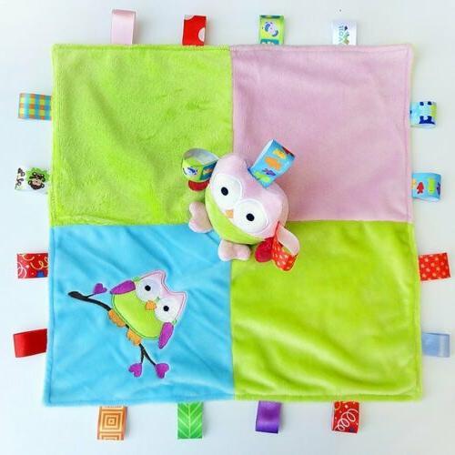Baby Colorful Blanket - Owl Stuffed Animal Comforter