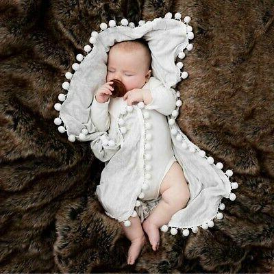 Baby Boy Girl Swaddle Blanket Cotton Soft Crib Cover Sleepin