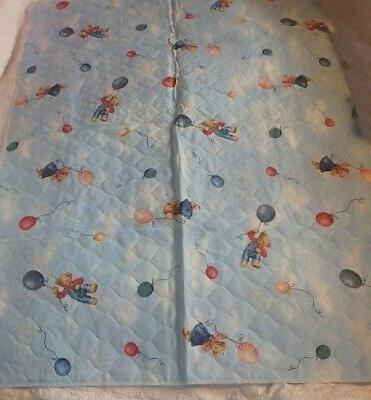 BABY CRIB QUILT ~ BEARS in HOT AIR ~ HOMEMADE