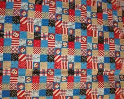 BABY BLANKET ~ RAGGEDY ANDY UNFINISHED *NEW