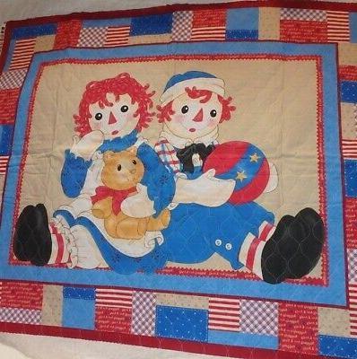 baby crib blanket quilt raggedy ann
