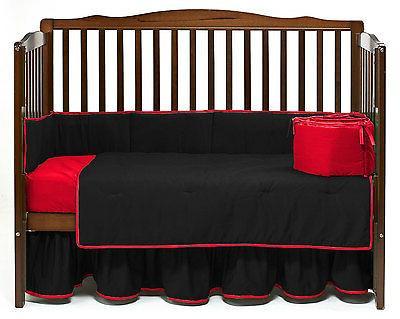 baby crib reversible bumper solid pattern
