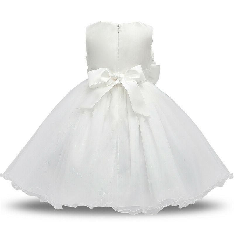 Baby Girl Christening Dress 1 Birthday Tutu Gown