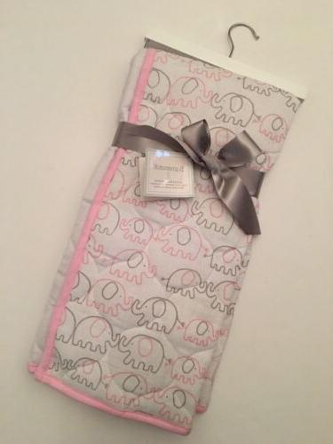 Sumersault Baby Girl 100% Cotton Muslin Quilted Blanket Pink