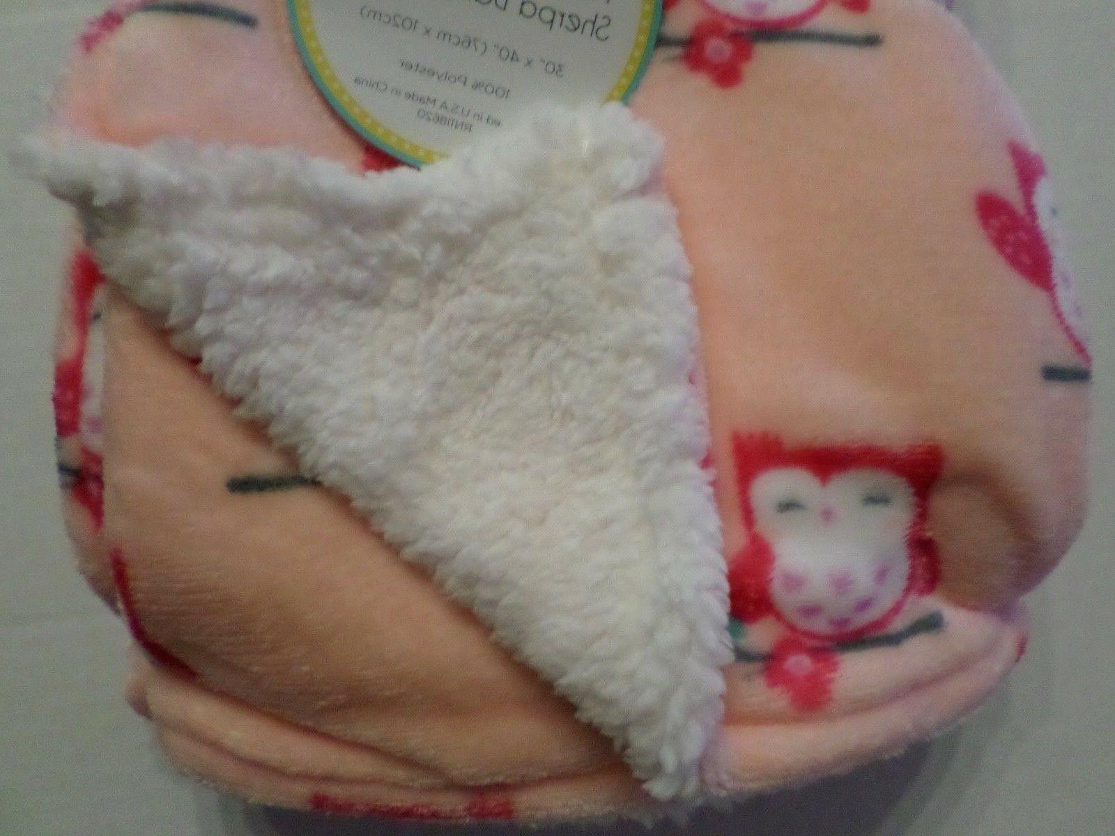 Lollypop Baby Plush Owl Blanket -