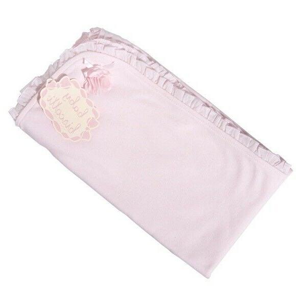 baby girls infant blanket pink cotton ruffle