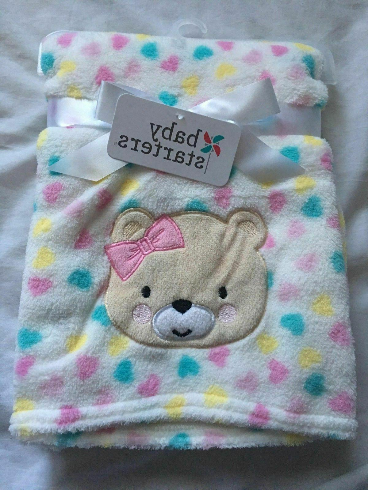 baby girls plush blanket shower gift soft