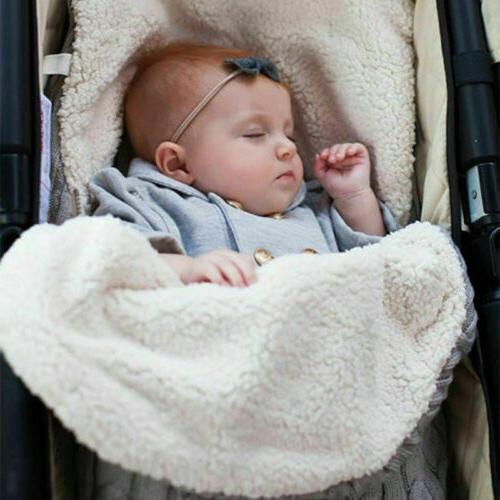 Baby Hooded Wrap Blanket Warm Pushchair