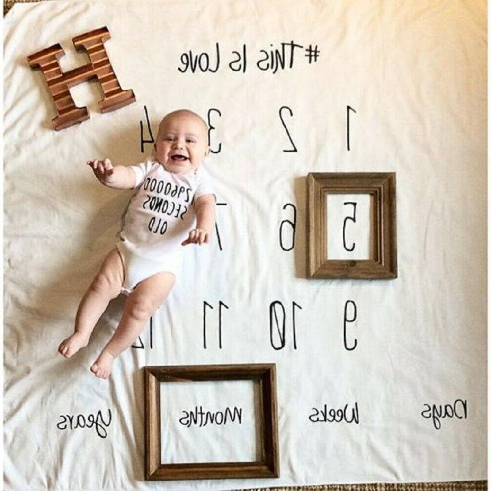 baby infant days monthly years milestone blanket