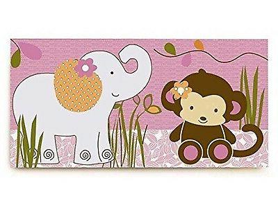 CoCaLo Baby Jacana Canvas Wall Art 24 in x 12 in Monkey Elep
