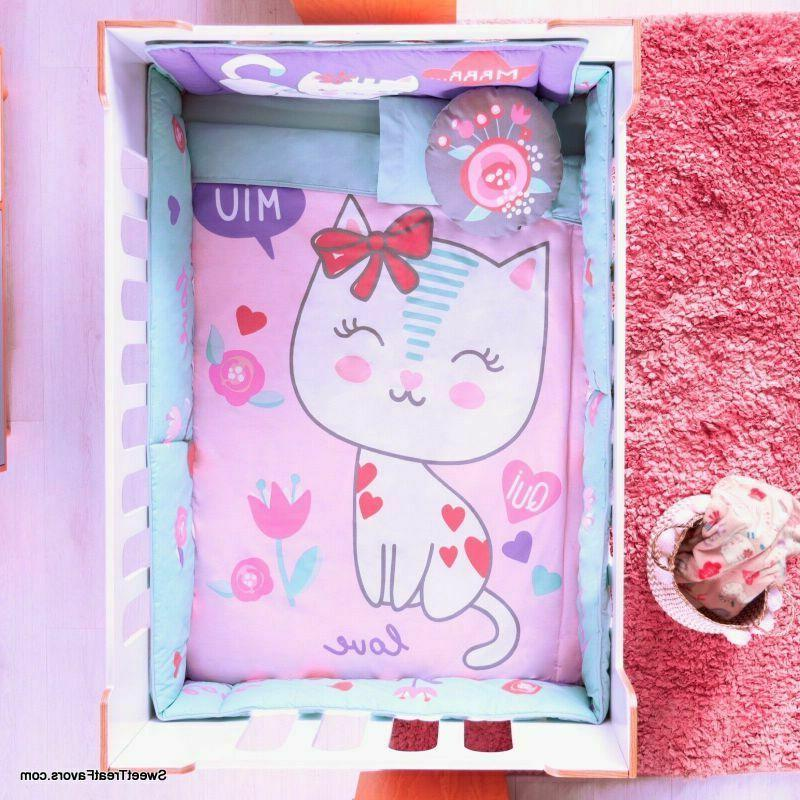 baby kitty crib set baby girl gift