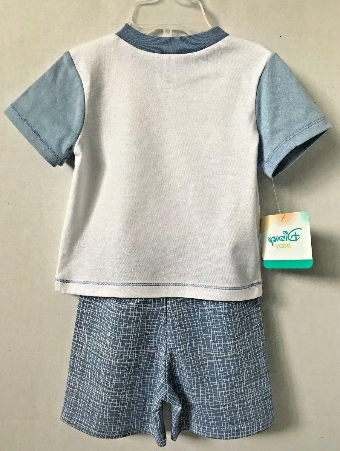 Disney Mickey Infant Boys Piece Shorts Size 3/6M or 6/9M New