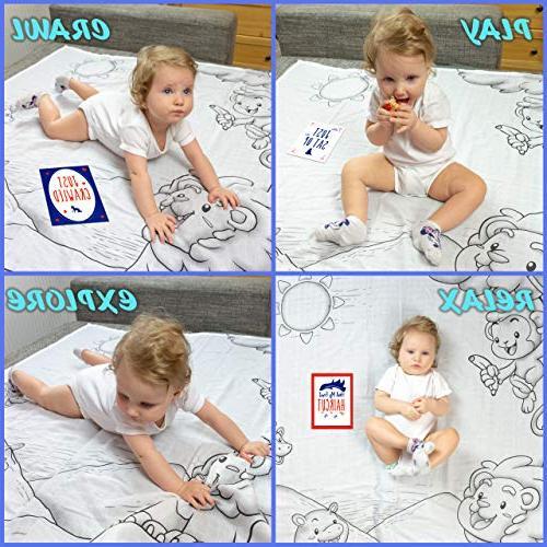 Baby Blanket Month Child – Baby Blanket – + 12 Milestone Hypoallergenic