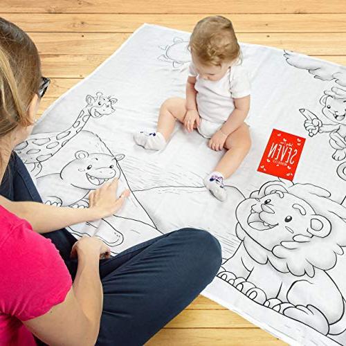 Baby Month – Baby Blanket Cotton Non-Toxic Baby – Multifunctional 12 Milestone