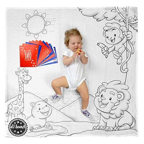 baby milestone blanket month child