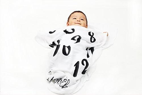 Danha Baby Blanket Monthly Infant Boy, or | Large Muslin Swaddle Blankets x