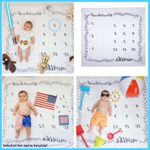 baby milestone blanket monthly photography photo prop