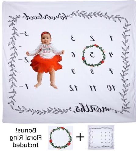Baby Milestone Blanket Monthly - Baby Gift