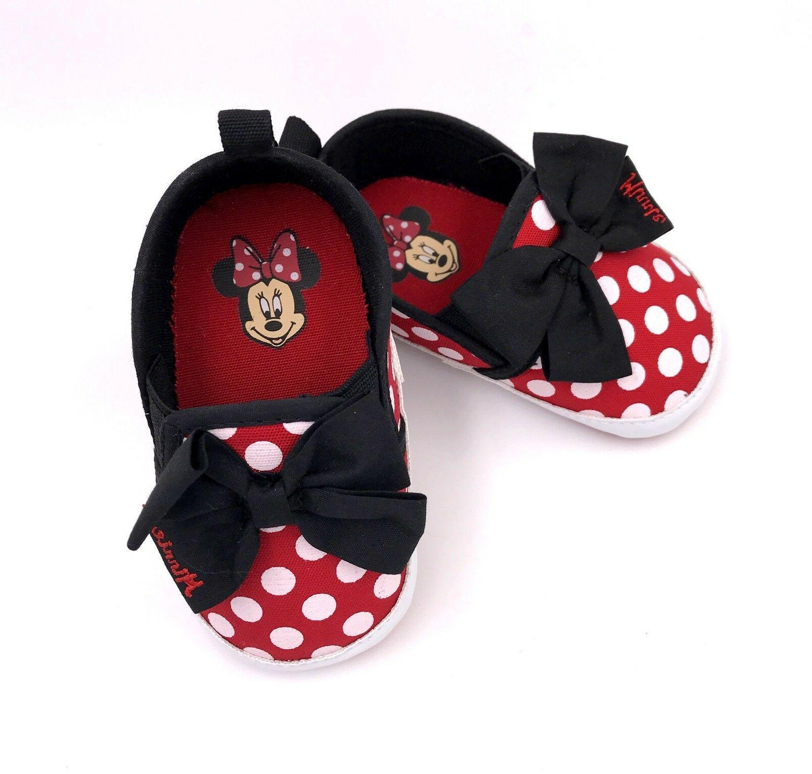 baby minnie mouse crib shoes red polka