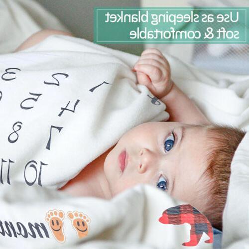 Baby Monthly Milestone Blanket | Newborn Boy&Girl - Mom Baby