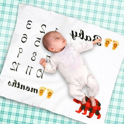 Newborn Baby Monthly Growth Milestone Blanket Letter Prop Ph