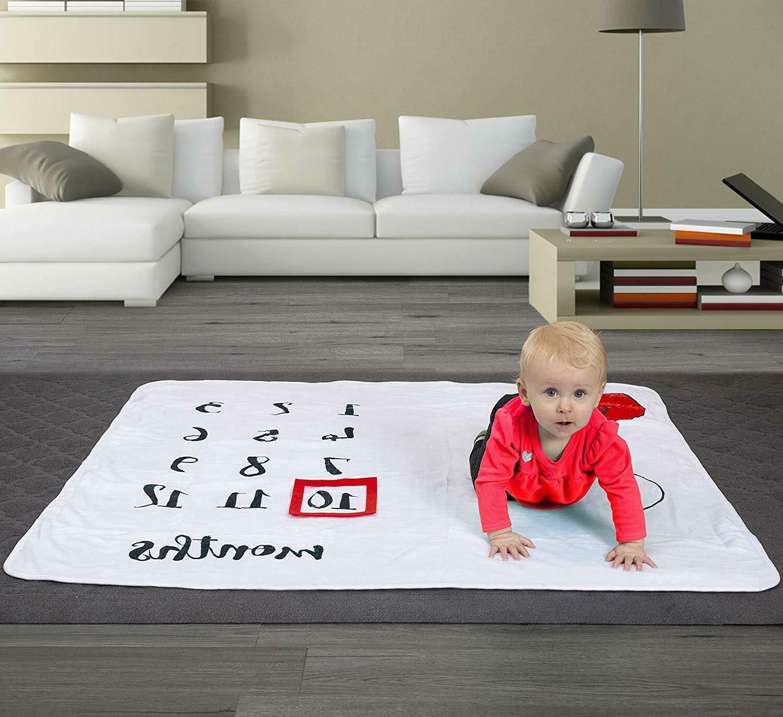 Baby Monthly Milestone For Newborn Girl, Soft