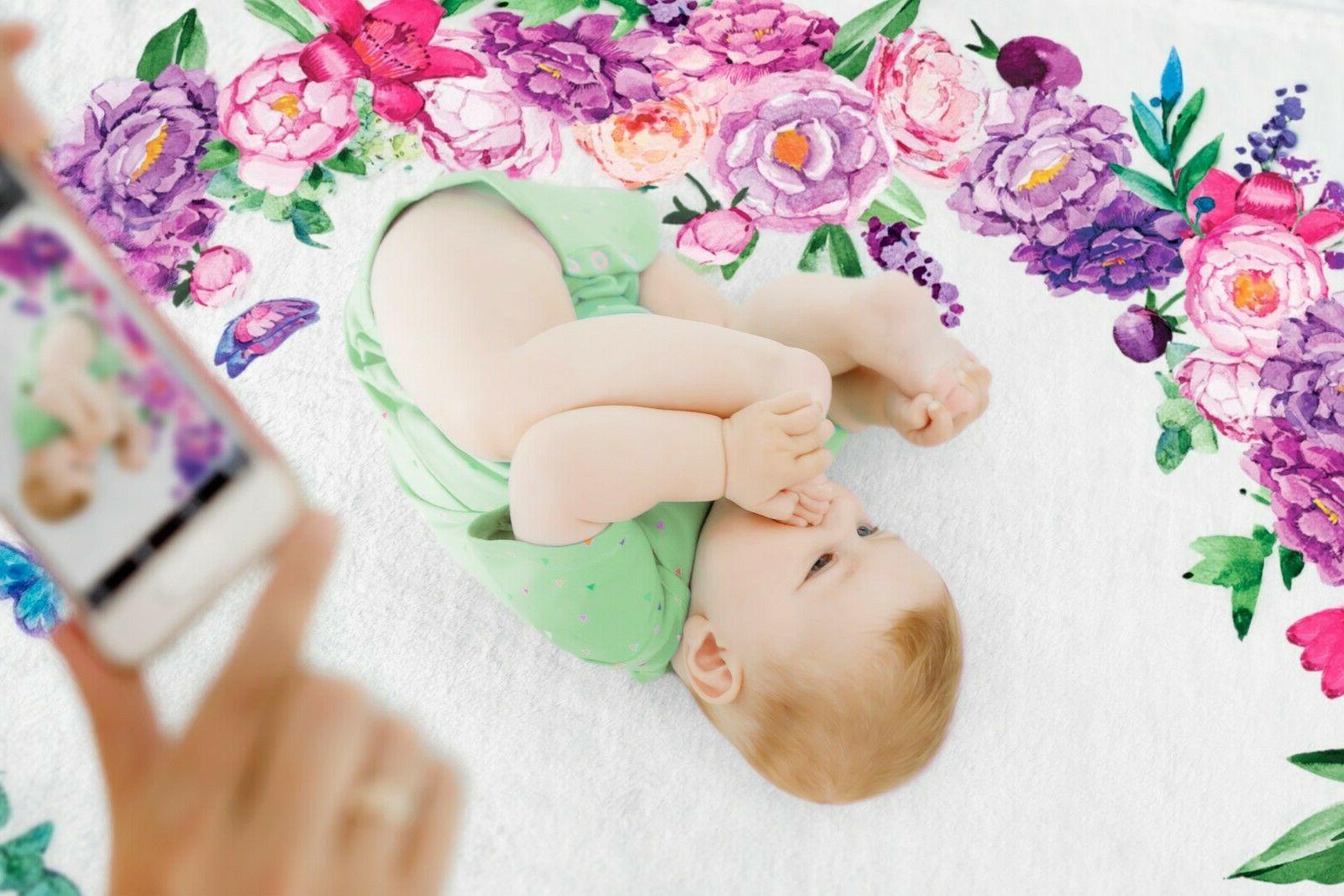 Baby Milestone Blanket Girl Thick Prop