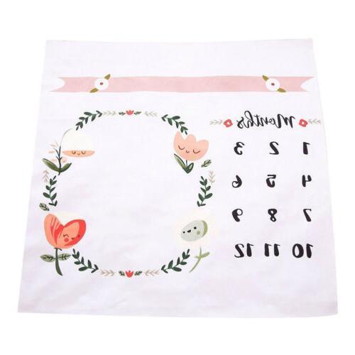 Baby Monthly Milestone Blanket | Girl - New Baby