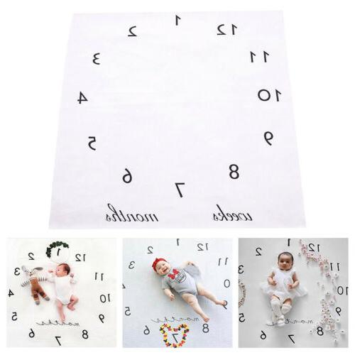 Newborn Baby Milestone Blanket Photography Picture Props Bac