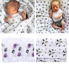 Baby Muslin Cotton Flamingo Wrap Swaddling Blanket Newborn I