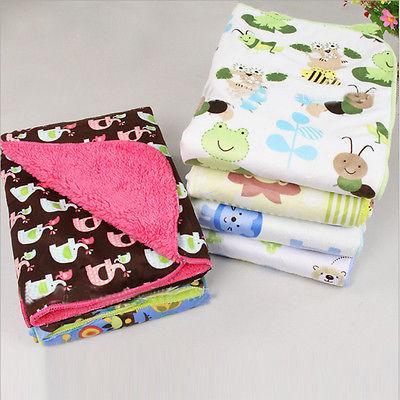 Baby Newborn Soft Fleece Blanket Pram  Crib Moses Basket Gir