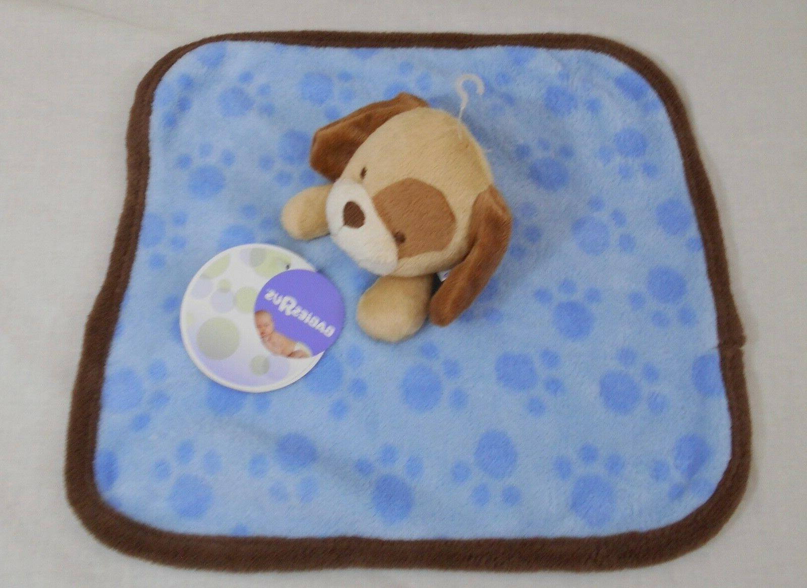"Baby Us_Baby Security Blanket_Puppy Dog_Blue/Brown_12"" X 12""_Hard"