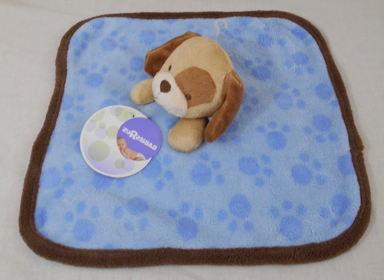 "Baby Us_Baby Security Dog_Blue/Brown_12"" X 12""_Hard"
