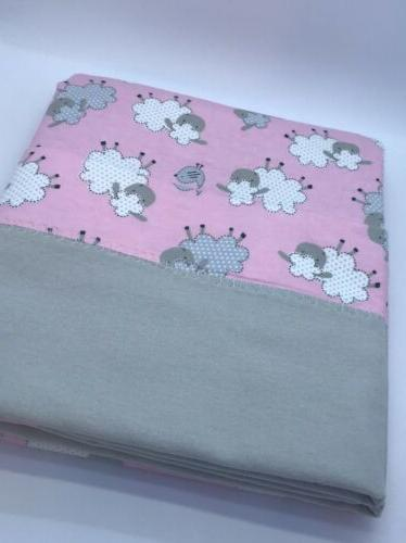 Baby Blanket, Blanket Pink Baby Sheep