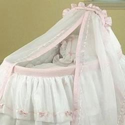 """BabyDoll Baby Regal Liner/Skirt & Hood with White Trim, 15"""""""