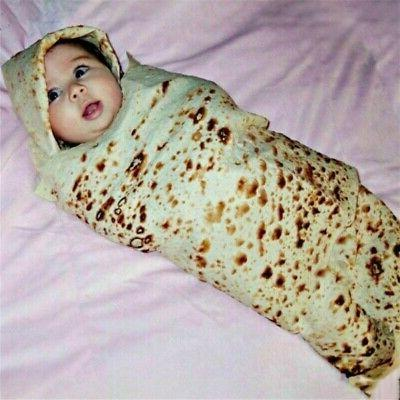Baby Super Soft Burrito Blanket Throw Tortilla Texture Fleec