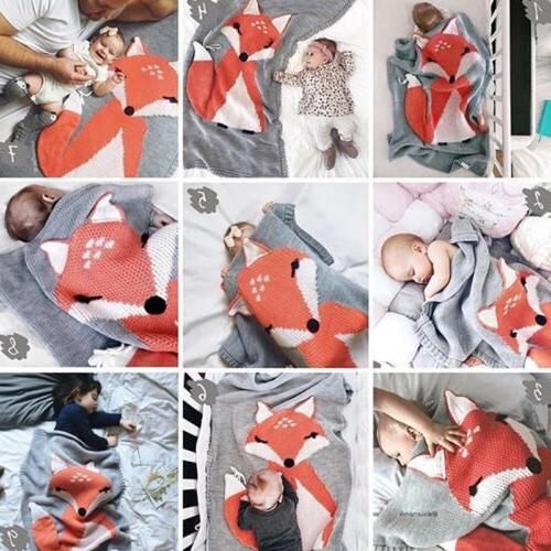 baby soft crochet blanket toddler bedding fox