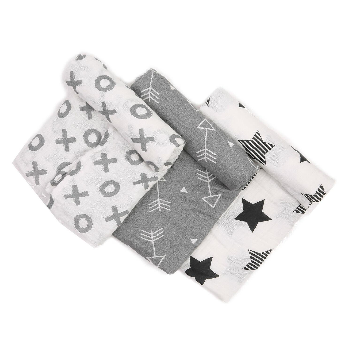 baby swaddle blanket 100 percent cotton 47x47