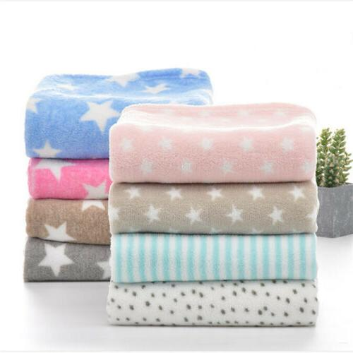 Baby Bedding Blankets Coral Fleece Blanket Thicken Infant Sw