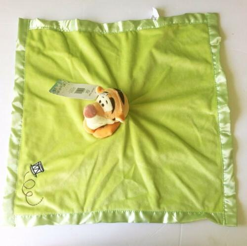 Disney Baby Tigger Orange Green Satin Lovey NEW Super