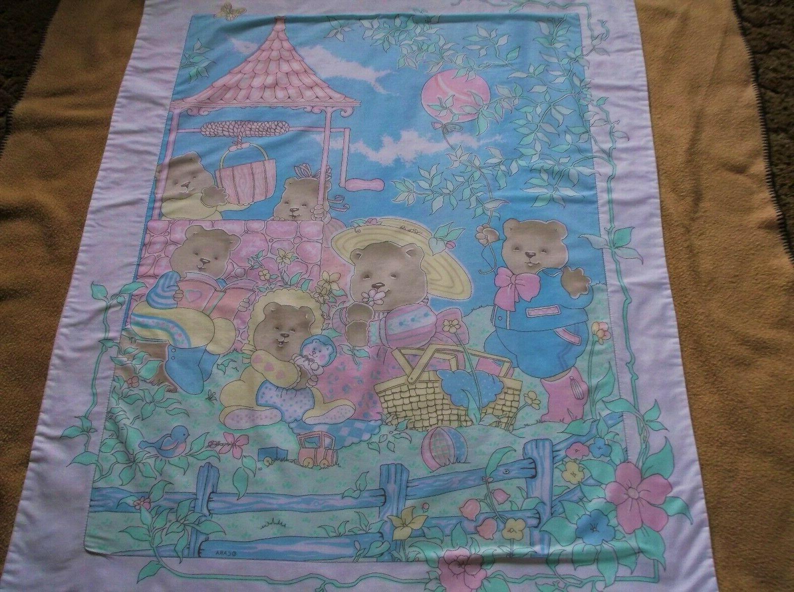 baby toddler nursery bedding blanket bear family