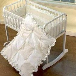 Babydoll Waffle Fleece Cradle Bedding 18 x 36