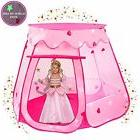 Playz Ball Pit Princess Castle Play Tents for Girls w/ Glow