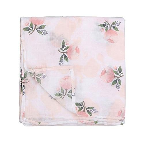 """Bamboo Blankets - Flamingo Print"""" Baby Wrap Gift by"""