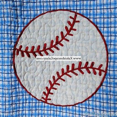 BASEBALL 7PC TWIN QUILT BASKETBALL FOOTBALL  ~ THROW PILLOWS