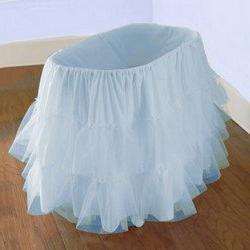 Bassinet Petticoat, color: Blue, size: 16x32