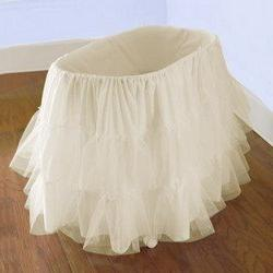 Bassinet Petticoat, color: Off White, size: 16x32